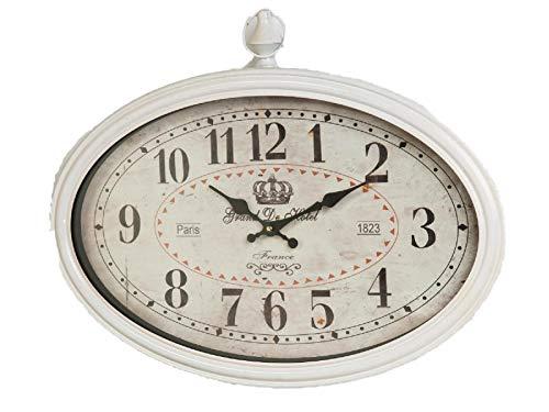 Nostalgische Wanduhr Clock Factory oval 33*50cm creme