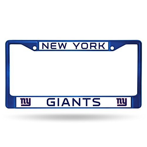 Rico Industries NFL New York Giants Colored Chrome Plate Frame, Blue