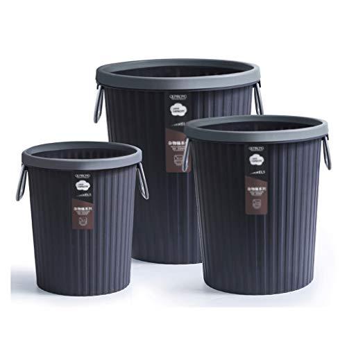 liangzishop Cubos de Basura Cocina de Basura sin Tapa con Cesta de Papel de residuos portátiles Grande Capacidad Grande Capacidad de baño Sala de Estar Cesta de Papel de Oficina Papeleras (Color : A)