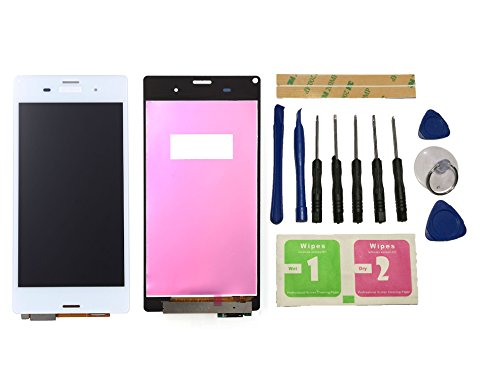 Flügel for Sony Xperia Z3 D6603 D6653 L55T Display LCD Ersatzdisplay Weiß Touchscreen Digitizer Bildschirm Glas Assembly (ohne Rahmen) Ersatzteile & Werkzeuge & Kleber