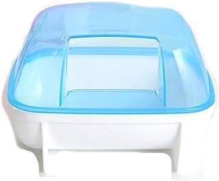 DCMA ペット用品 ハムスター ハウス 透明 沐浴 砂浴び ケース おトイレ お掃除 ミニ スコップ 付き 簡単 掃除 取り外 お楽しみ 色