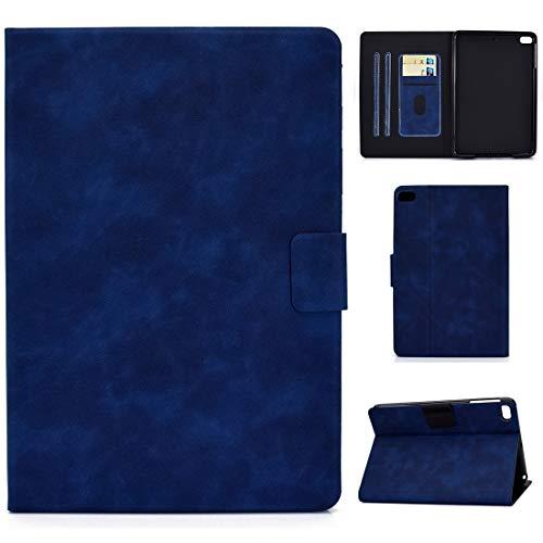 Tablet PC Case for el iPad Mini 5/4/3/2/1 piel de vaca Textura horizontal de cuero del tirón del caso con el sostenedor y ranuras for tarjetas y sueño / Función de despertador Tablet contraportada
