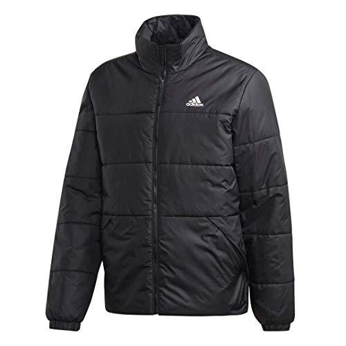 adidas Men's BSC 3-Stripes Insulated Outdoor Jacket, Black/Black, Medium