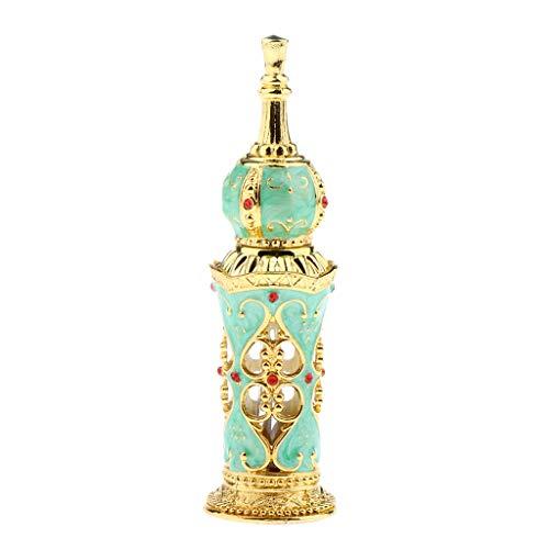 Sharplace Recargable Botella de Perfume Vacío Envase de Estilo Antiguo Antiguo Recipientes Cosméticos Jar - Verde