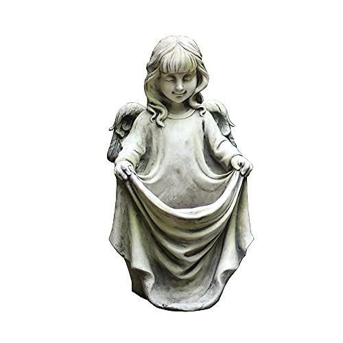PLHMS Maceta Creativa para niña, Soporte para macetas de ángel suculentas, Figuras de jardín al Aire Libre, Adornos de decoración de esculturas de Hadas de Flores, para Patio, jardín