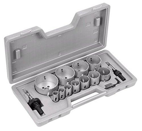 Bosch Professional 14tlg. Lochsägen Set (für Holz / Metall / Kunststoff, Zubehör für Akku- und Netzbohrschrauber)