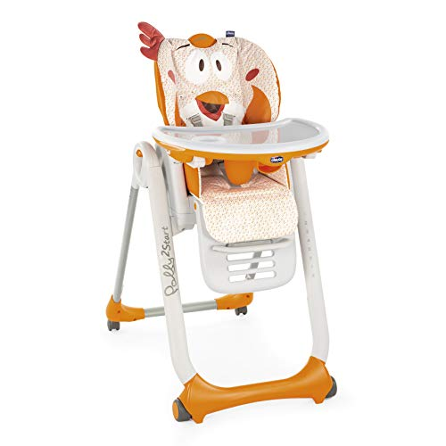 Chicco Hochstuhl Polly 2 Start, Fancy Chicken - 4 Rollen
