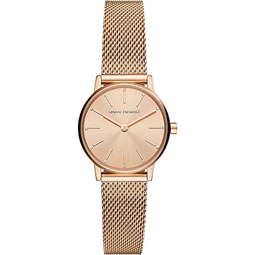Armani Exchange Womens Analog Quartz Uhr mit Stainless Steel Armband AX5566
