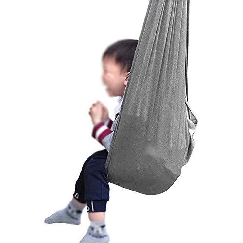 LHHL Schaukeltuch Therapie-Schaukel Innenbereich Fliegen Yoga Hängematte Ideal Für Autismus ADHS Und SPD Indoor-Schaukel Stuhl (Color : Gray, Size : 100×280CM/39×110in)