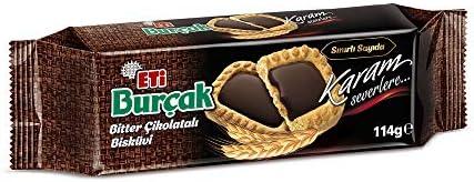 Eti Burçak Bitter Çikolatalı Bisküvi 114 g