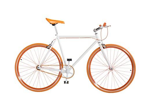 7 Frames BICICLETA FIXIE – DOBLE FRENO (naranja) Talla 54 para alturas de 160 a 182 aprox