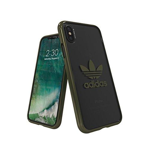 Preisvergleich Produktbild adidas Originals Clear Case Handyhülle für Apple iPhone X - Grün Green Logo