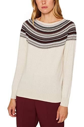 ESPRIT Damen 109Ee1I008 Pullover, Beige (Sand 2 286), Small (Herstellergröße: S)