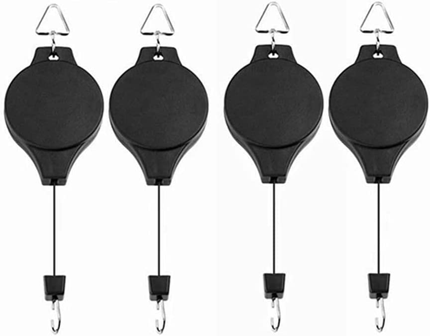 20-90cm Retractable Hanging Basket Mail order cheap Pull Pulley Garde Hanger 1 year warranty Down