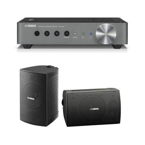 YAMAHA WXA-50 MusicCast Wireless Streaming Amplifier NS-AW294 Outdoor Speaker, Pair, Black