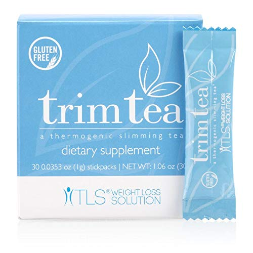 TLS Trim Tea, Thermogenic Slimming Tea, Helps Curb Appetite, Promotes Healthy Weight Management, Help Manage Hunger, Supports Metabolic Balance and Wellness, Market America (30 stickpacks)