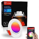Lumary Foco Empotrable LED Downlight - 5W WiFi Inteligente Downlight LED Techo Color Ajustable 2700K-6500K Blanco Cálido/Frío RGBWW Rotable Ojos de Buey de LED,Compatible con Alexa/Google Home (1PCS)