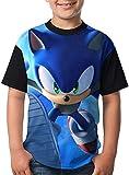 ANTOUZHE niño Camisetas Kid/Youth So-Nic The Hedg-ehog T-Shirts 3D Print Shor...