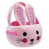 YOUBEMAGIC Personalized Plush Bunny Basket Easter Hunting...