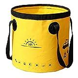 Accessori per la casa pieghevole benna di campeggio portatile pieghevole secchio escursionismo del contenitore dell'acqua 10L Casa gialla