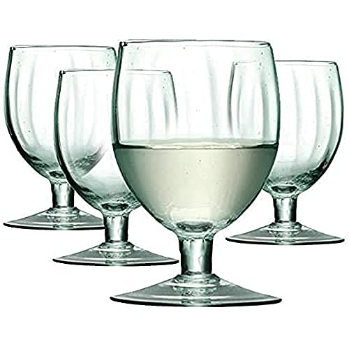LSA International 350 ml Mia Verre à vin, Décorations transparentes (Lot de 4)