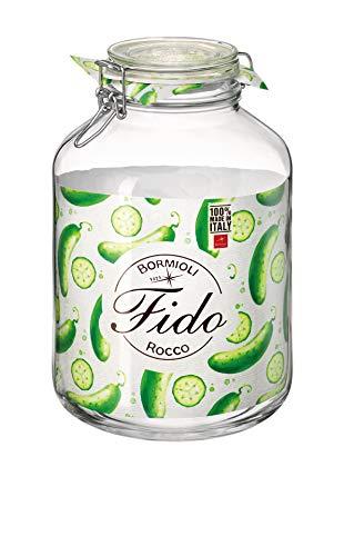Bormioli Rocco Fido Einmachglas mit Drahtbügelverschluss & Dichtring, Luftdichte Konservierung zum Aufbewahren, Einmachen & Einlegen, Klar