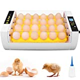 Incubadora de Huevos, Incubadora Automática de 24 huevos, Iluminación LED de Huevos, Control de Temperatura y Rotación Automático de Huevos, para Huevos, Huevos de Pato, Huevo de Ganso, etc.