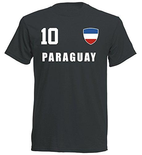 Paraguay WM 2018 T-Shirt Trikot - schwarz ALL-10 - S M L XL XXL (XL)