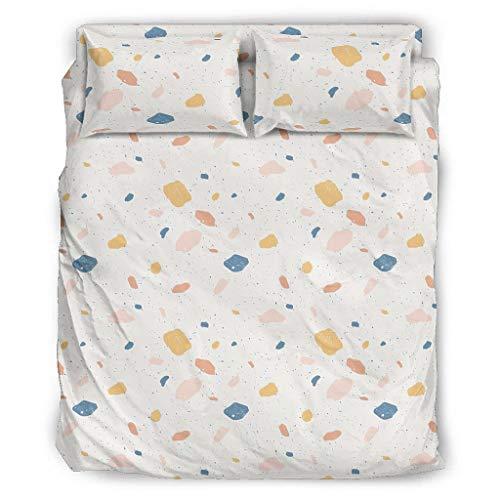 WellWellWell Terrazzo - Juego de cama de 4 piezas con cremallera, incluye...
