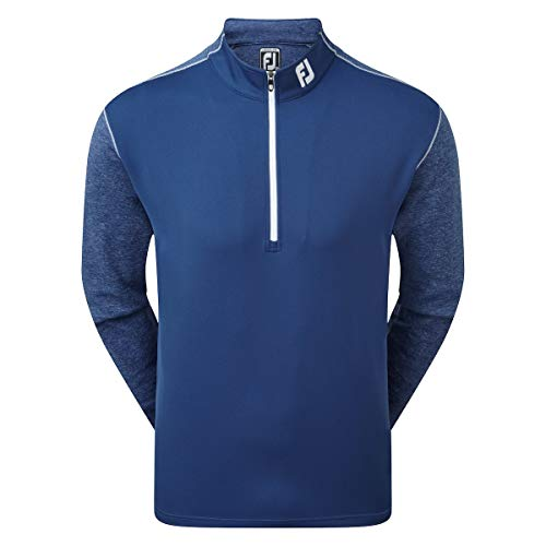 Footjoy Tonal Heather Chill-Out Pull Homme Bleu, XL