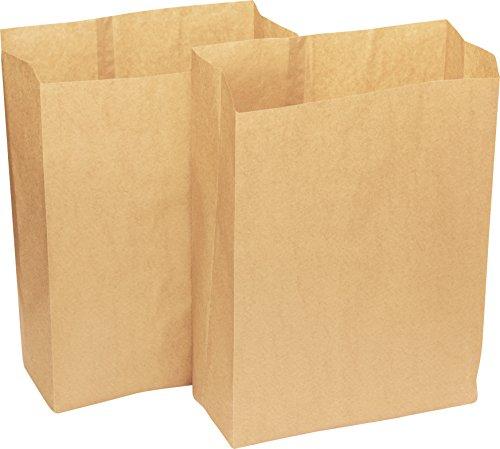 50 x Alina 25L bioabfalltüten papier / Lebensmittel Abfallbehälter / biologisch abbaubarer brauner 25 Liter Papiersack