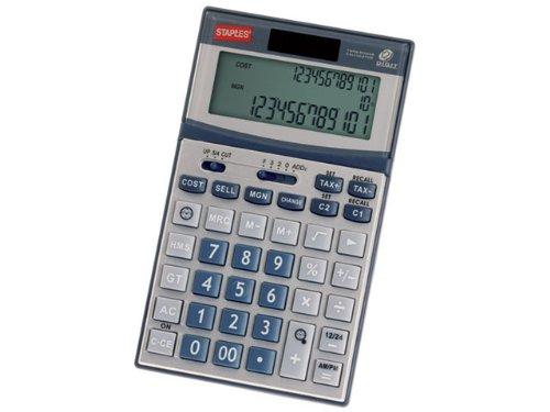 Staples 7352269 Business Handtaschenrechner, batteriebetrieben, solarbetrieben