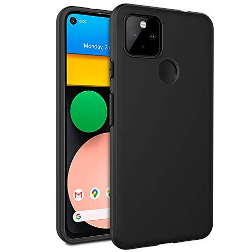 EasyAcc Hülle Hülle Kompatibel mit Google Pixel 4a 5G, Schwarz TPU Handyhülle Matte Oberfläche Handyhülle Schutzhülle Schmaler Handyschutz Kompatibel mit Das Google Pixel 4a 5G