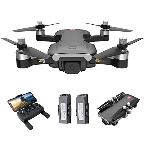 KLJJQAQ GPS Drone with Camera for Adults, RC Drone with 4K HD Camera, 5G WiFi FPV RC Quadcopter with Brushless Motor, Optical Flow Positioning, Track Flight, Follow Me,2 Batteries