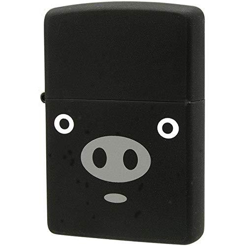ユニークなデザインZIPPO。 ZIPPO(ジッポー) オイルライター アニマル ブタ ブーブー 黒 63320298 〈簡易梱包