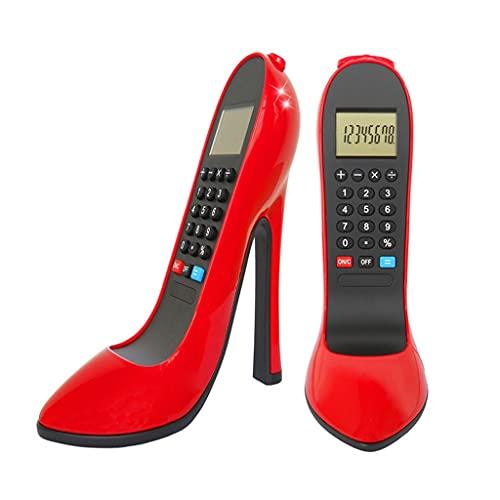 calculadoras Calculadora De Tacones Altos De Escritorio Calculadores Electrónicos De 8 Dígitos Gran Pantalla LCD Y Botón Grande Calculadoras Básicas (Color : Red, tamaño : 1pcs)