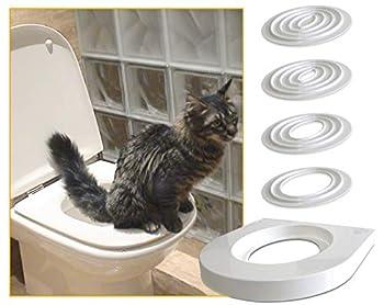 Servicat Bac à litière temporaire pour apprenez à votre chat à utiliser les toilettes