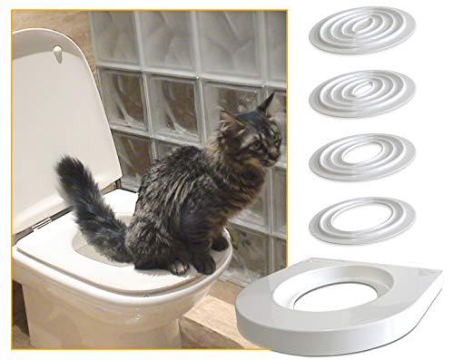 Servicat Lettiera temporanea per insegnare al tuo Gatto a Usare la toilette senza sabbia