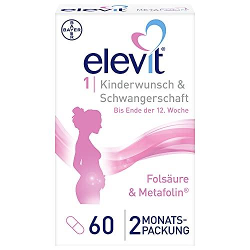 ELEVIT, Tabletten Nährstoffe ab Kinderwunsch und im ersten Schwangerschaftsdrittel, 60 stück