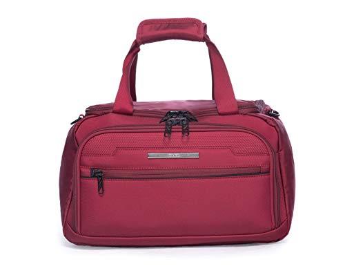 ABISTAB Verage Toledo Ryanair Flug Kabine Handgepäck Reise-Tasche 40x20x25, aufsteckbare Weekender-Handtasche Schultertasche Rot, maximales Übernachtungsfach