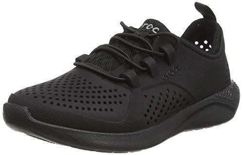 Crocs LiteRide Pacer Sneaker, Black/Black, 33/34 EU