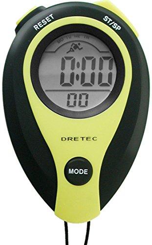 DRETEC(ドリテック) 大画面表示 1/100秒ストップウォッチ イエロー SW-111YE