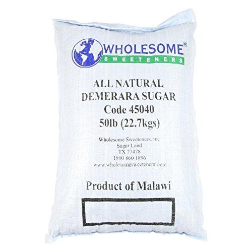 Wholesome Sweeteners Natural Demerara Sugar, 50 lb, Single Unit