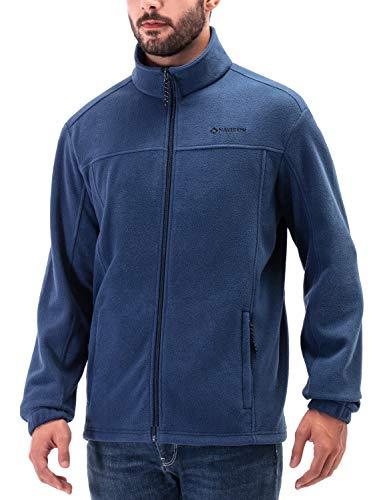 NAVISKIN Homme Veste Polaire en Laine Zippéet Bleu Taille M