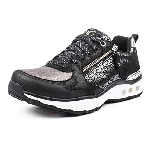 Therafit Savannah Women's Athletic Casual Shoe - for Plantar Fasciitis/Foot Pain 8.5 / Black