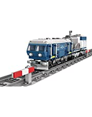 Elroy369Lion MOC Locomotive City Train - Kit de construcción con raíles circulares, una gran idea de regalo para niños (375 unidades)