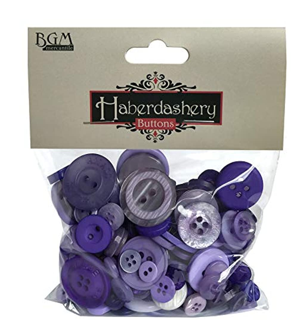 Buttons Galore Purple Haberdashery Craft & Sewing Buttons - 4.5 oz Bag of Buttons