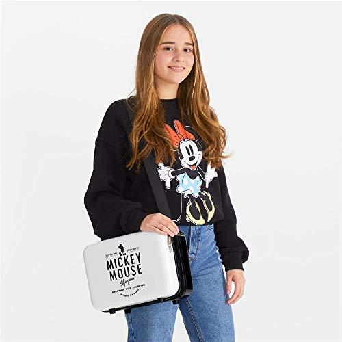 Disney Mickey Style Zaino portaon carrello Bianco 29x21x15 cms ABS