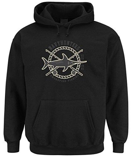 Certified Freak Swordfish Fishing Hooded Sweater Black XXL