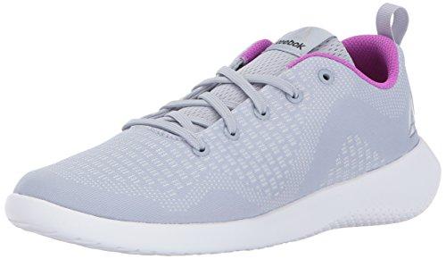 Reebok Women's Esoterra Dmx Lite Track Shoe, cloud grey/white/vicious violet, 7 M US